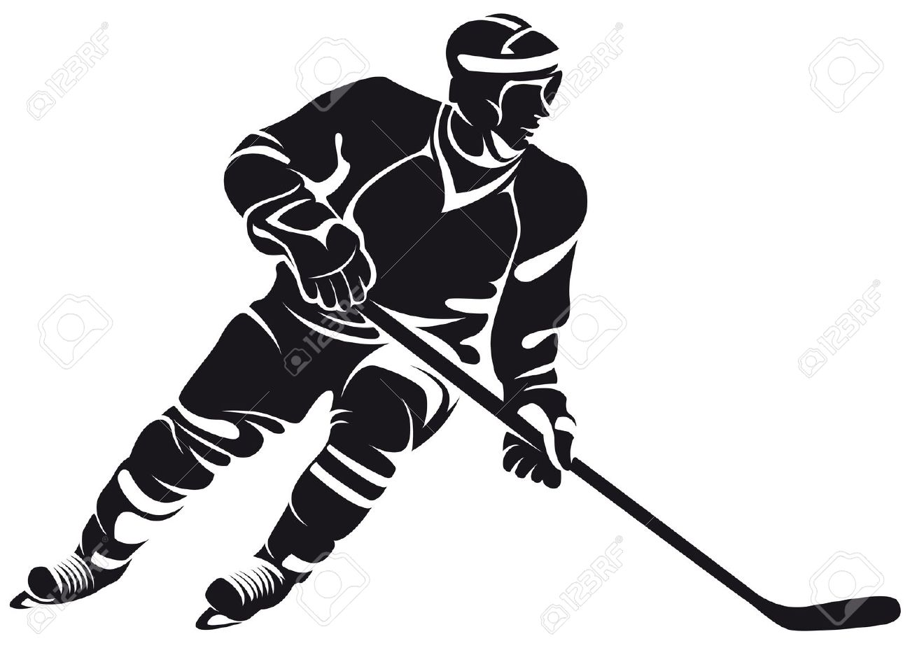 hight resolution of 1300x936 collection of hockey player clipart black and white high