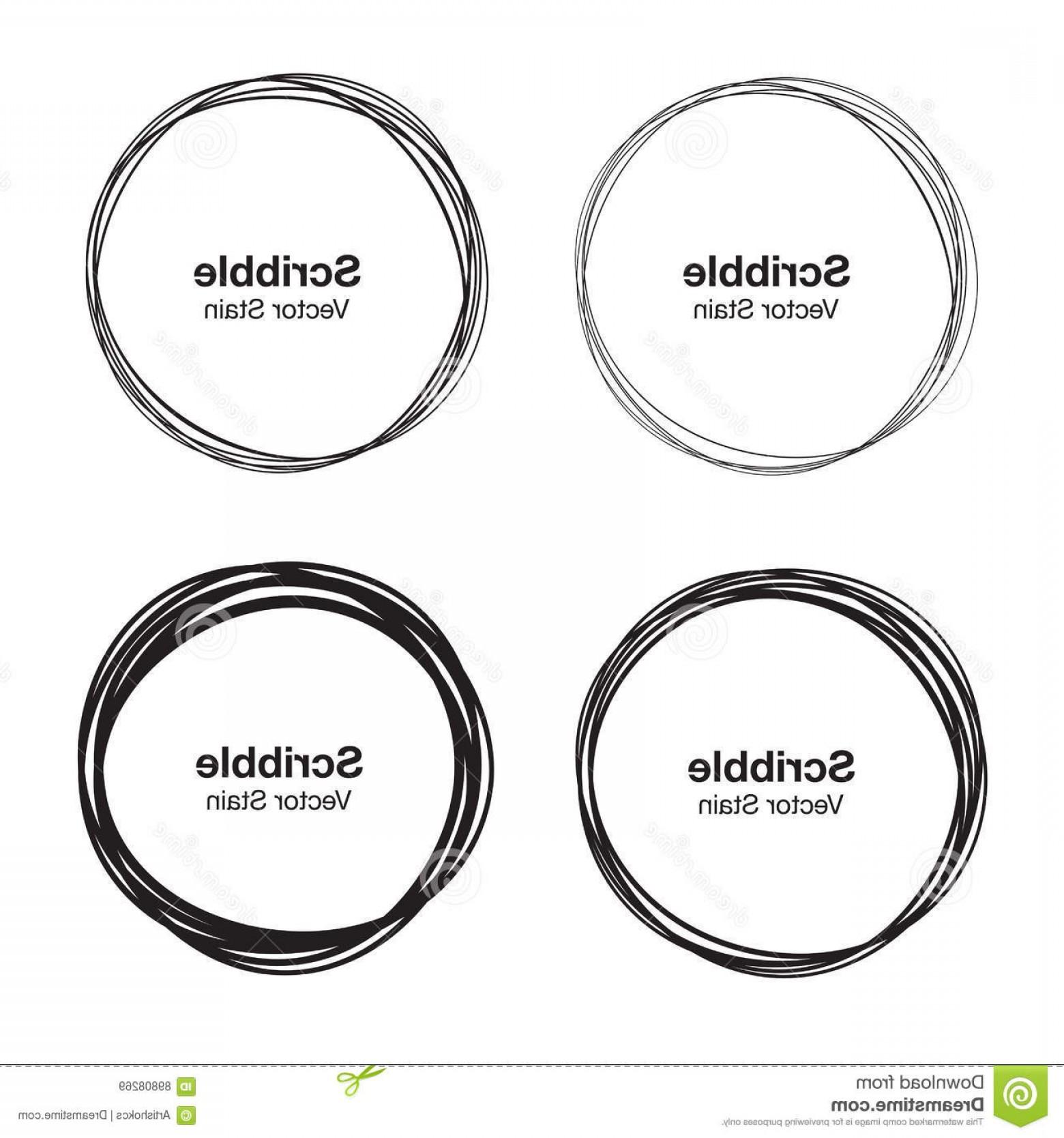 hand drawn circle vector