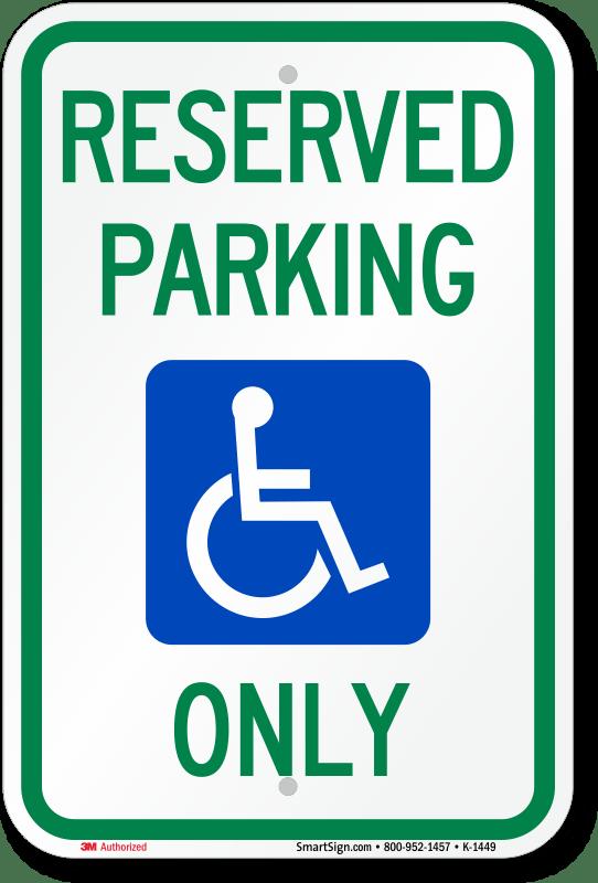 handicap parking vector at