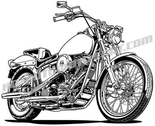 Harley Davidson Motorcycle Vector at GetDrawings.com