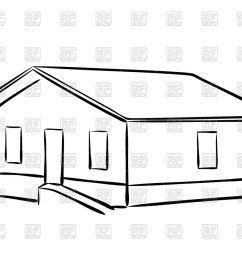 1200x874 outline of house vector image vector artwork of architecture [ 1200 x 874 Pixel ]