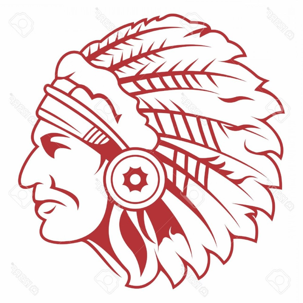 medium resolution of 1560x1560 photostock vector retro indian chief headdress tattoo isolated on