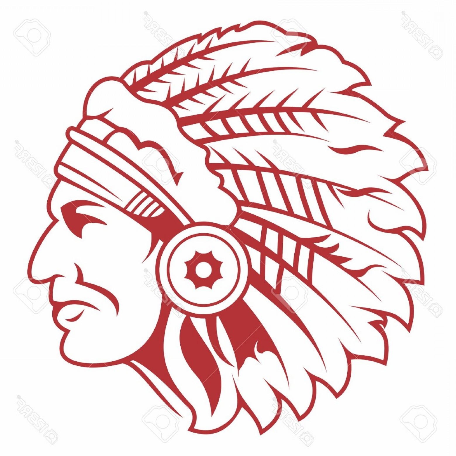 hight resolution of 1560x1560 photostock vector retro indian chief headdress tattoo isolated on