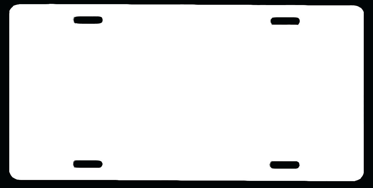 Simplicity Printable Temporary License Plate Template