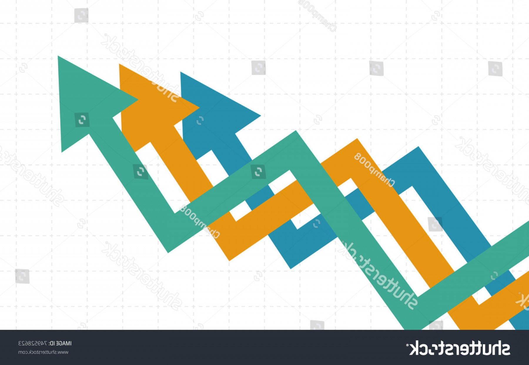 line graph vector at