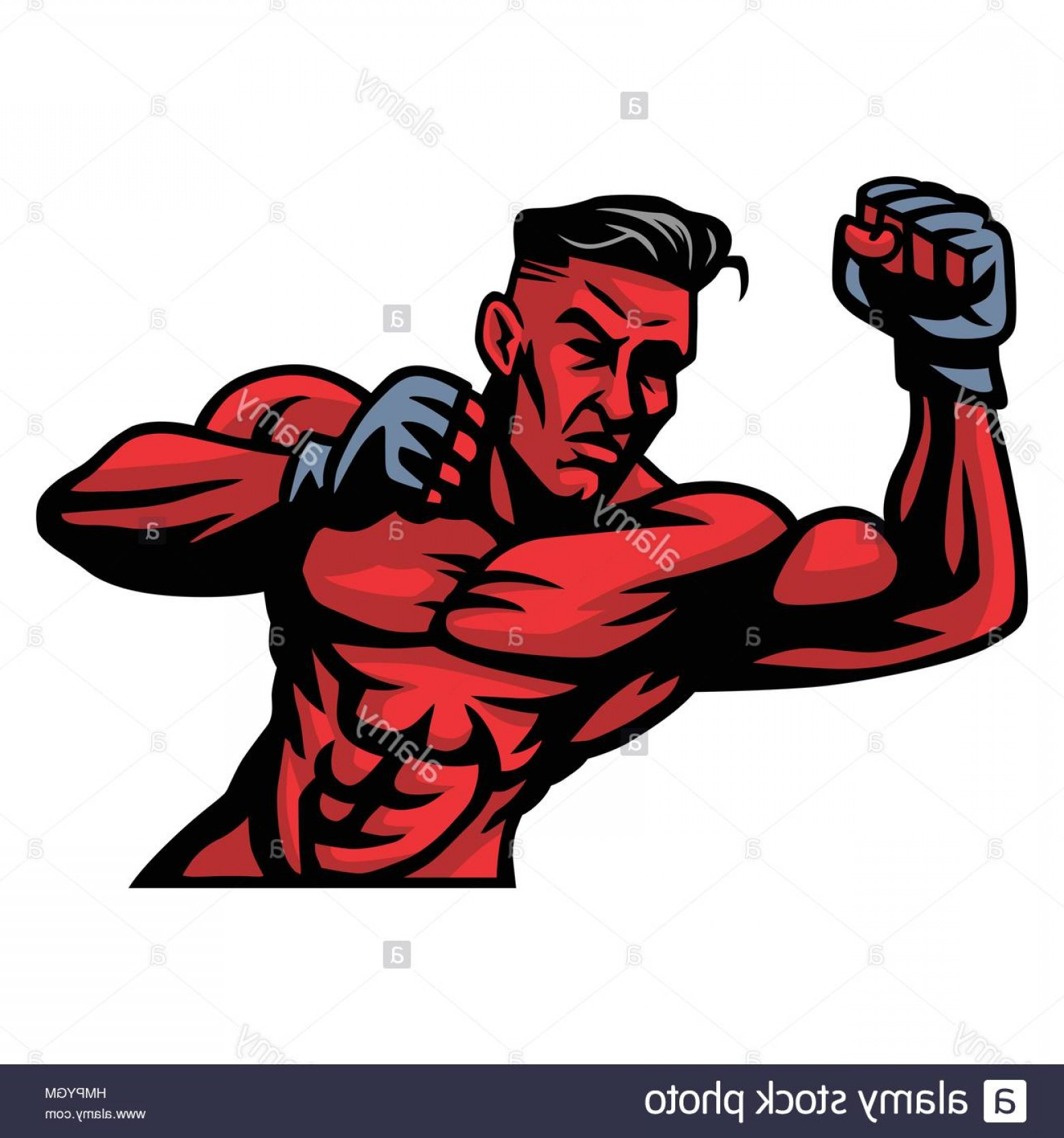 mma fighter vector at