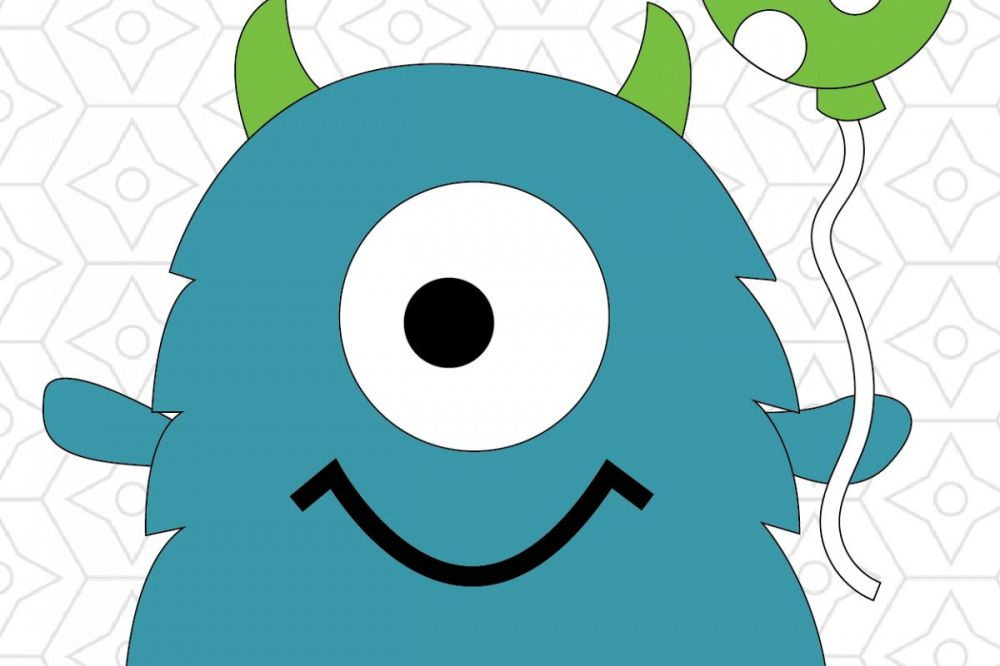 medium resolution of 1200x800 birthday monster vector design svg dxf and ai vector files for