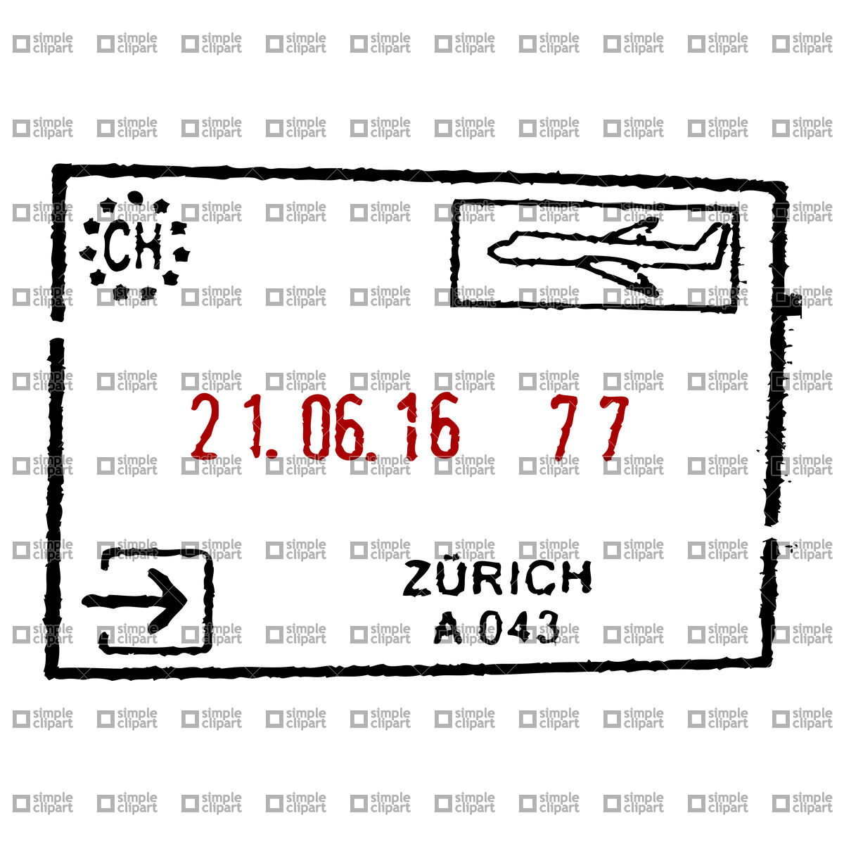 hight resolution of 1200x1200 passport stamp vector image