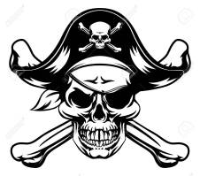 Pirate Skull Vector at GetDrawings   Free download