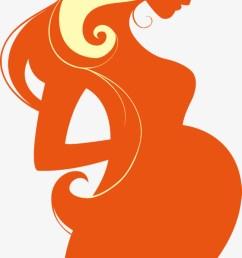 650x1286 orange pregnant women pregnant clipart vector pregnant woman [ 650 x 1286 Pixel ]