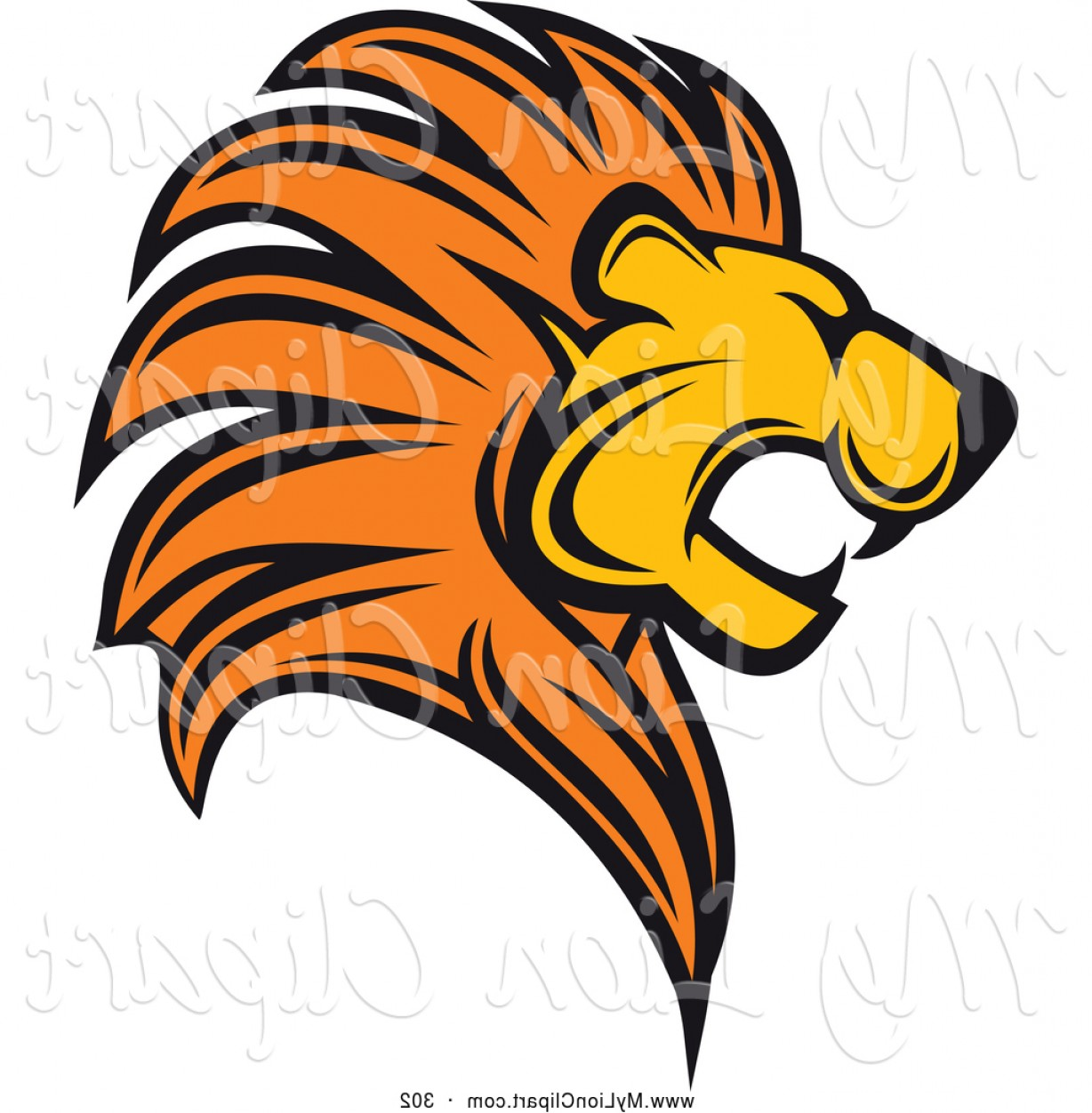 hight resolution of 1228x1252 clipart of a roaring lion logo by vector tradition sm sohadacouri