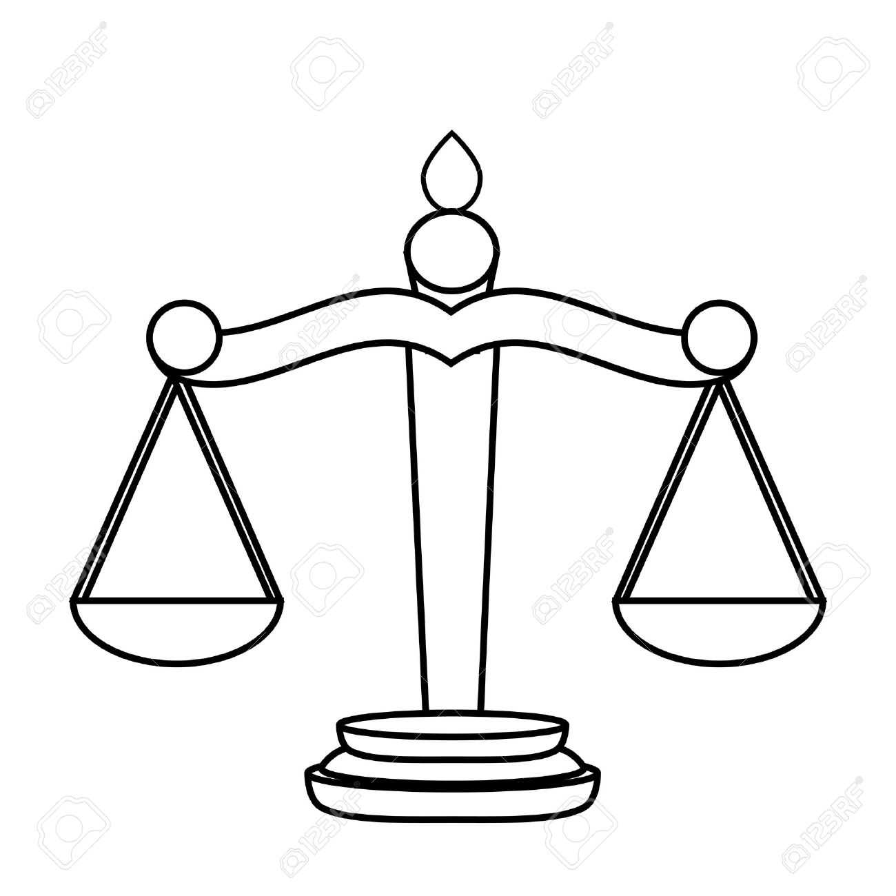 Scales Of Justice Vector At Getdrawings