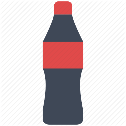 soda bottle vector at