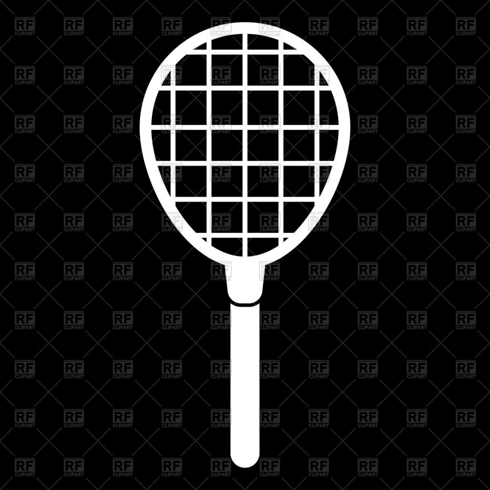 medium resolution of 1200x1200 tennis racquet white color icon vector image vector artwork of