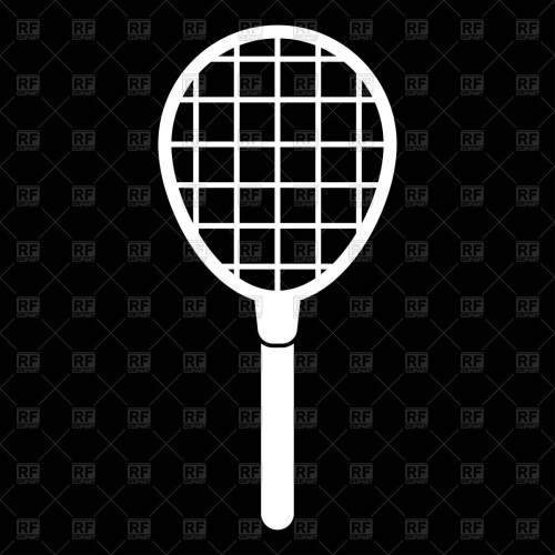 small resolution of 1200x1200 tennis racquet white color icon vector image vector artwork of