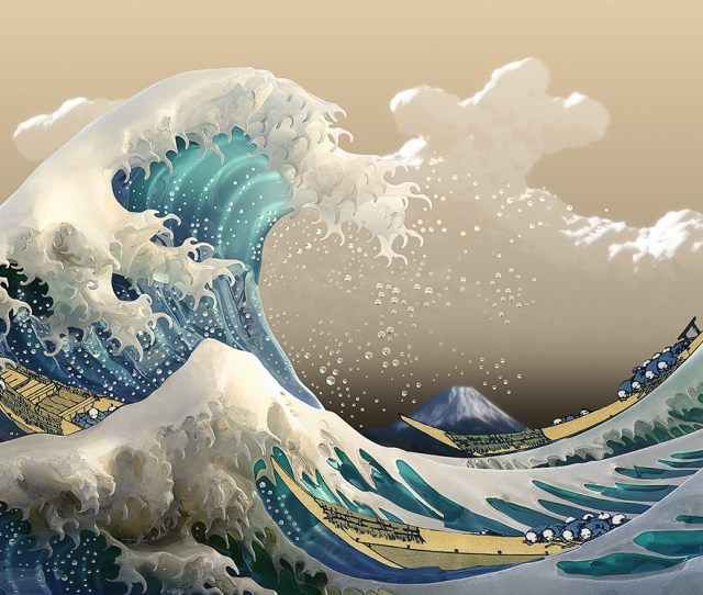 X Art Wallpaper Japan Waves Image Wallpaper Collections