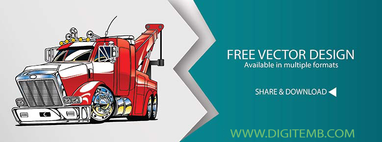 tow truck vector at