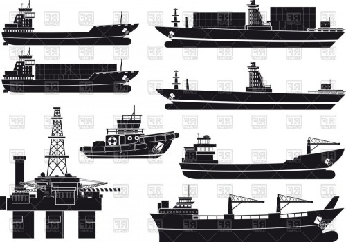 small resolution of 1440x1009 silhouettes of cargo vessels tugboat and oil platform vector