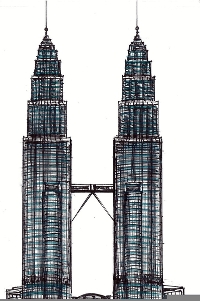Twin Tower Png : tower, Tower, Vector, GetDrawings, Download