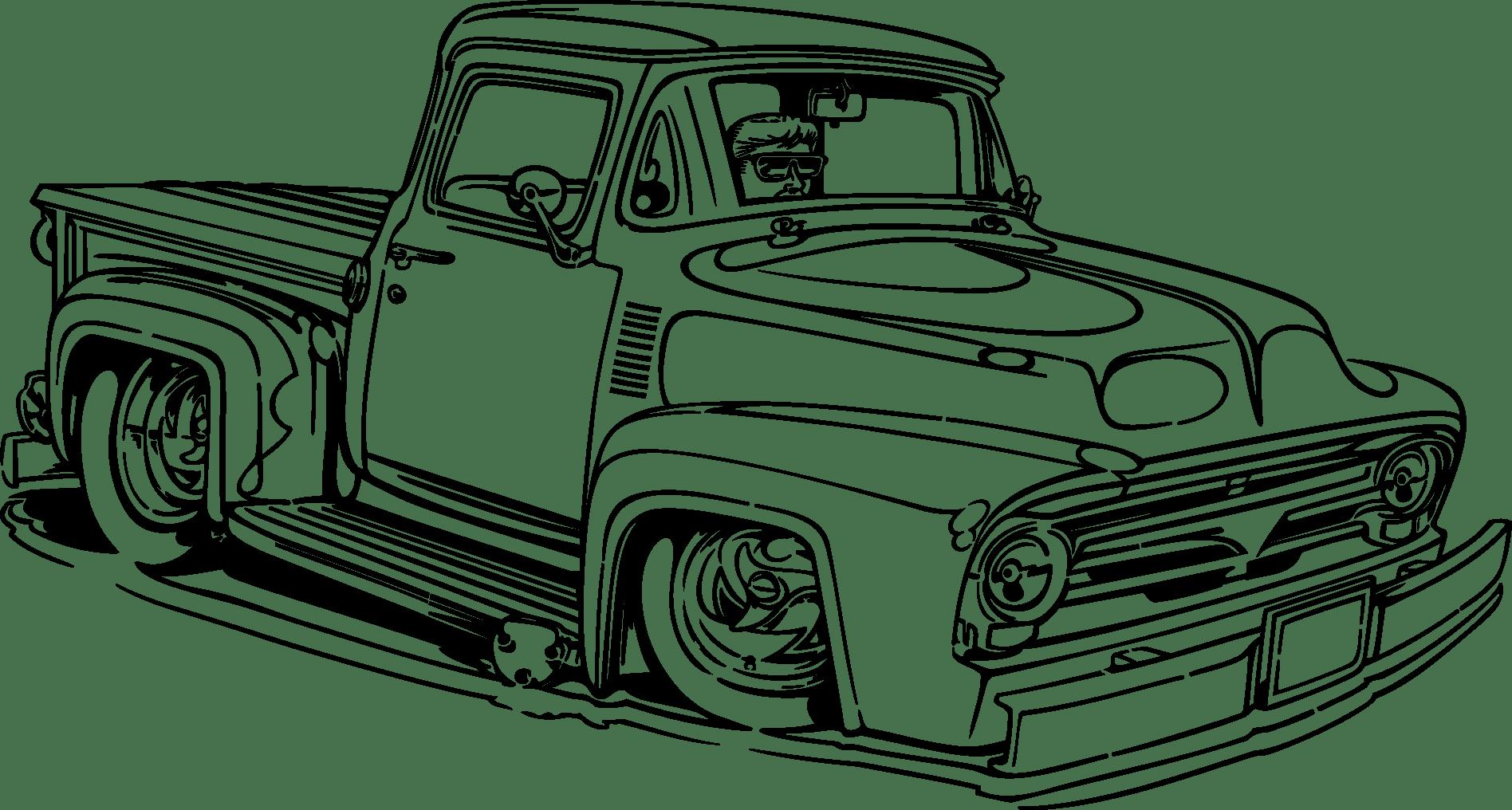 Vintage Truck Vector At Getdrawings