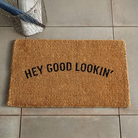 welcome mat vector at