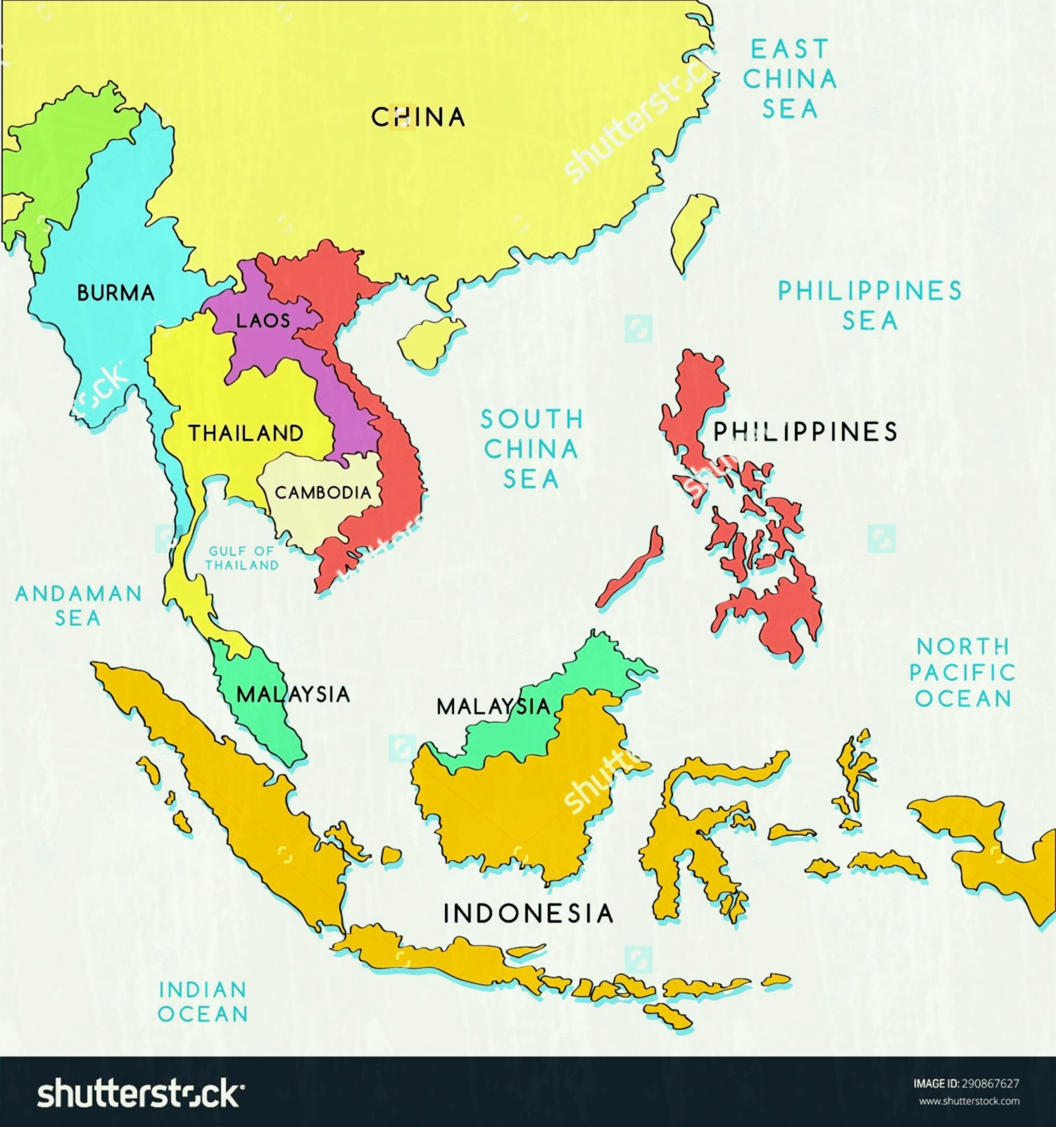 28 Blank Map Southeast Asia