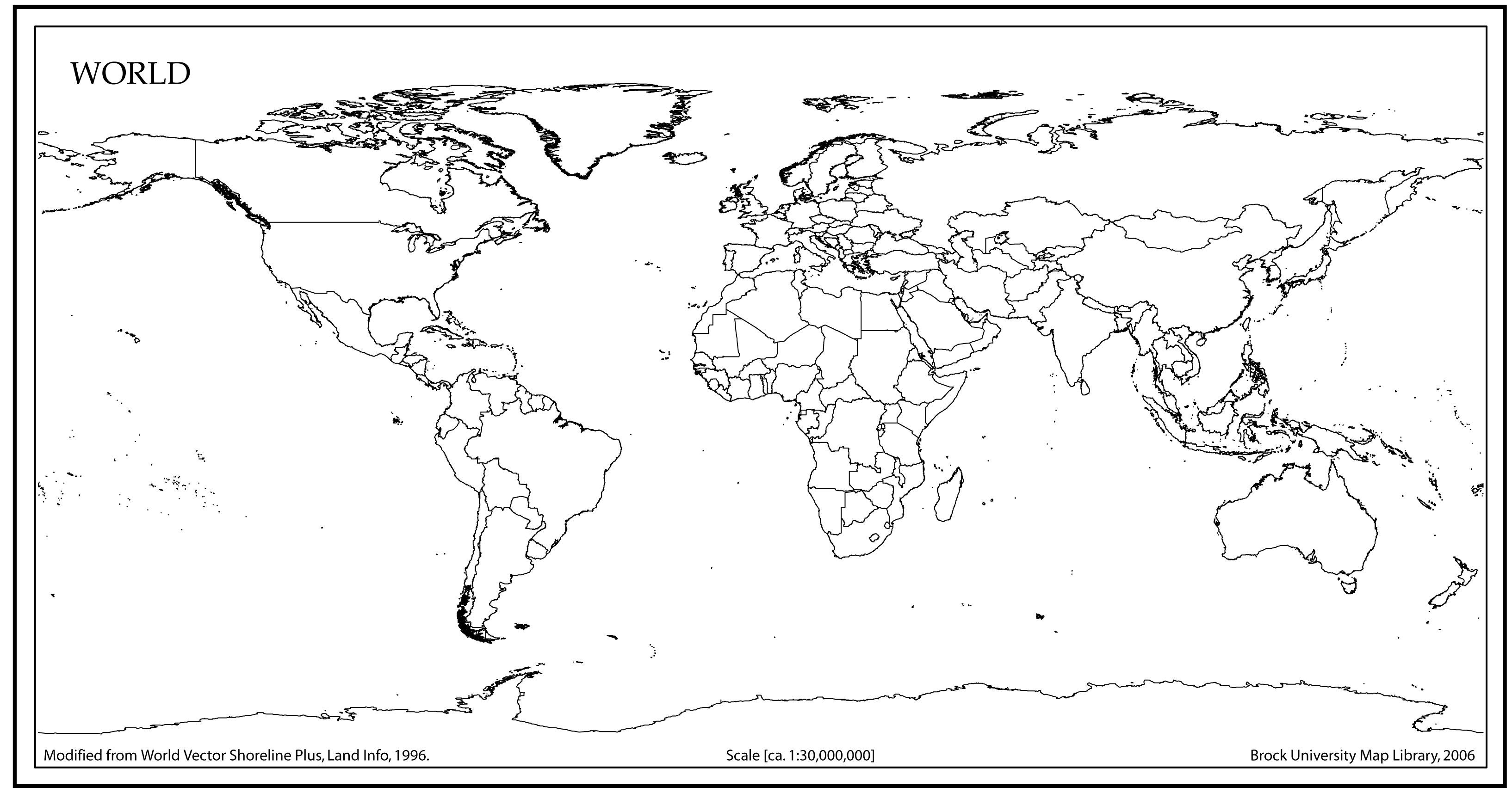 World Map Outline High Resolution Vector At Getdrawings
