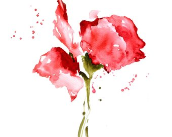 abstract watercolor flower paintings