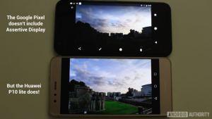 Perbedaan smartphone dengan Assertive Display dan tanpa Assertive Display