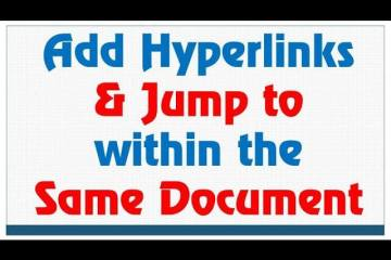 Adding Internal Document Links in Microsoft Word