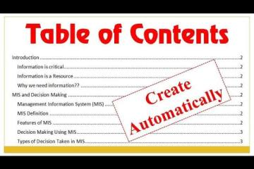Create Clickable Table of Contents Automatically in MS-Word