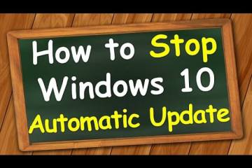 How to Stop/Disable Windows 10 Automatic update