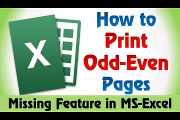 How to Print Odd Or Even Pages In Excel