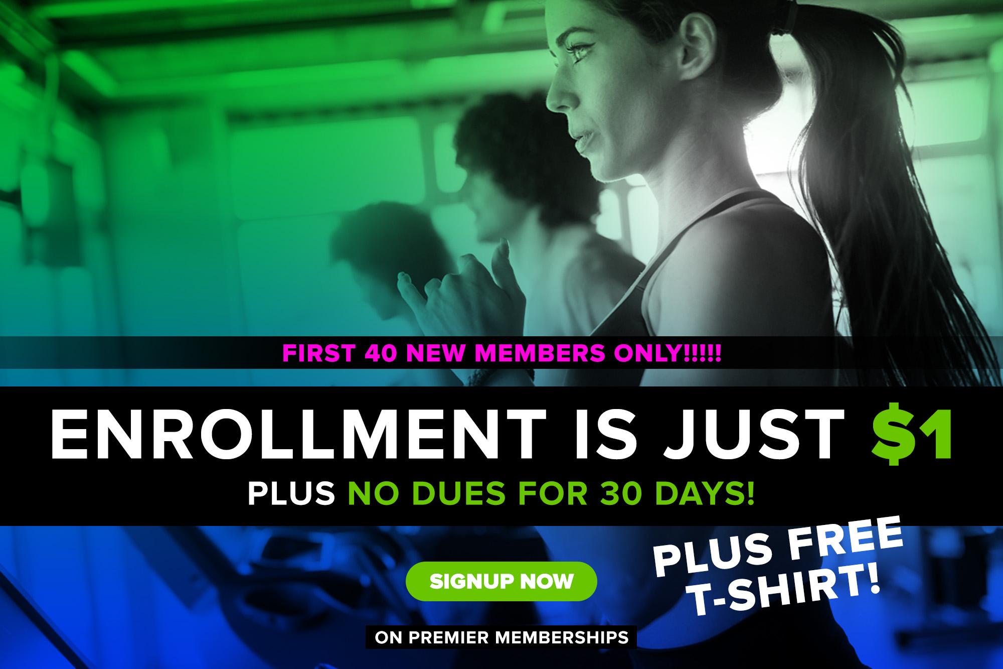 $1 Enrollment - 30 Days