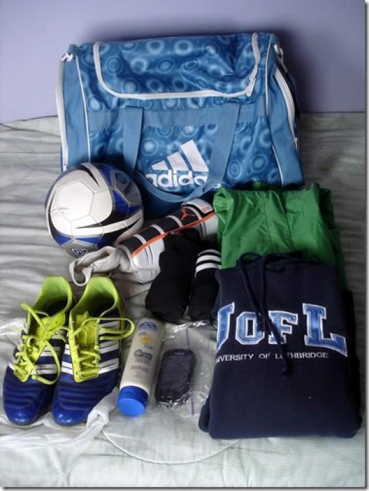 Soccer Bag Essentials April 30 2013