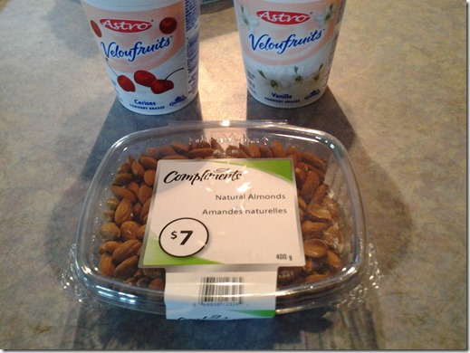 Yogurt and Almonds June 22 2013