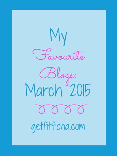 My Favourite Blogs March 2015