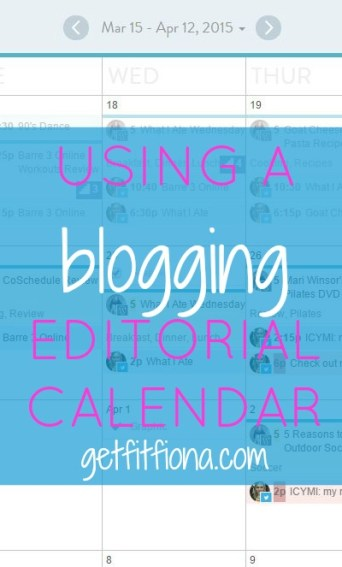 Using a Blogging Editorial Calendar May 25 2015