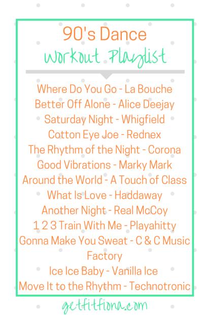 90's Dance Workout Playlist