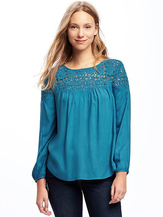 Old Navy Blue Lace Top