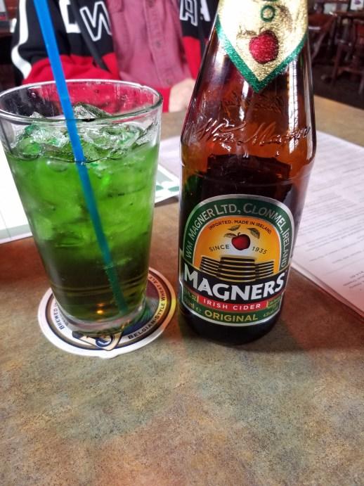 St Patrick's Day green cider