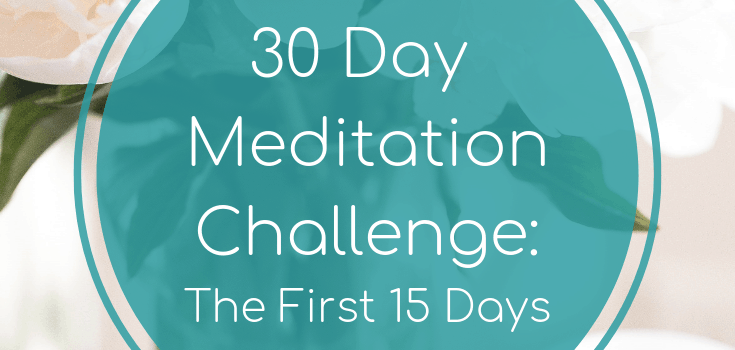 30 Day Meditation Challenge: The First 15 Days