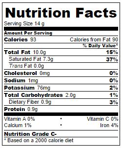 nutrition info almond butter coconut fat bomb