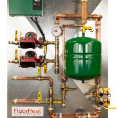 Underfloor Heating Wiring Diagram Combi Boiler For Double Switch 2 Zone Preassembled Radiant Heat Distribution Control