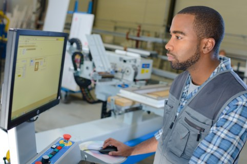 Employee Looking at a Screen