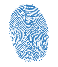 Security blue finger print scan FreePoint Technologies