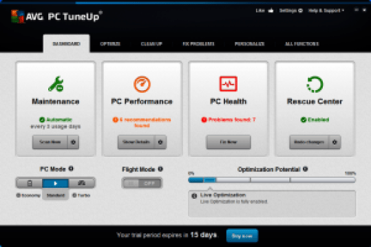 AVG PC TuneUp 2017 Crack Serial Key Latest Download
