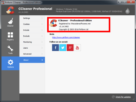 CCleaner 5.15 Pro License Key