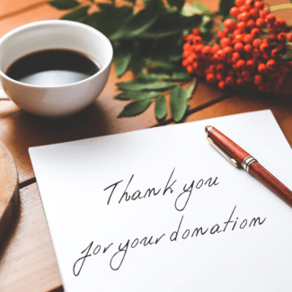 thank monthly donors
