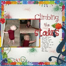 3 Tips to Choose Multi Photo Scrapbook Layouts in the Store Climbing The Stairs Shell Joslin Pixel Scrapper